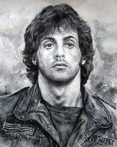 Stallone by MannHau on deviantART ~ traditional pencil drawing