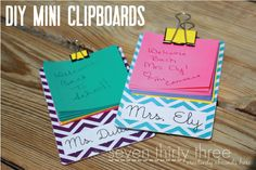 Mini clipboard diy party favors
