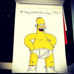 """#TidyWhitiesThursday, D'oh! #Homer #Simpson #Homerization"""