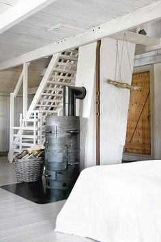 a rustic farmhouse in sweden by the style files, via Flickr