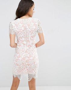 Image 2 ofASOS Bodycon Pencil Dress in Border Lace