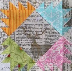 The Splendid Sampler - Clock 65: Stripe and Flowers by Siobhan Rogers