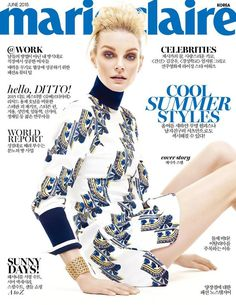 COVER  Jessica Stam by Yoo Young Kyu for Marie Claire Korea June 2015 | Modbad