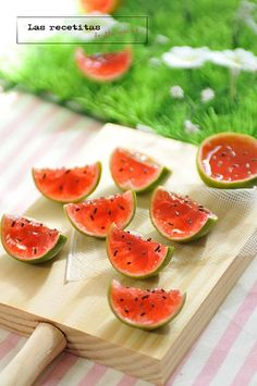 They're watermelon jello shots! Best idea ever for a summer party.