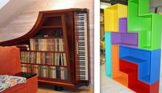 Here Are A Couple Of Awesome Bookshelf Designs Courtesy Think Geek Personally I