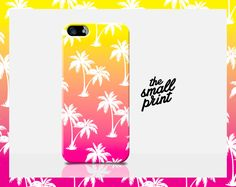 PALM TREE Phone Case, Pink iPhone Case, Palm Tree iPhone 4 case, Sunset 4s Case, Sunset Phone Case, Hawaii Phone Case, Tropical iPhone Case by TheSmallPrintCases on Etsy
