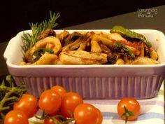 Secretos de Porco Preto com Pimentos e Cogumelos