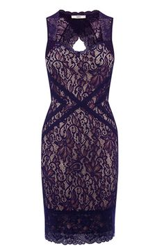 We love the purple lace overlay on this knee-length bodycon dress! The sweetheart neckline keeps it pretty and ladylike. Team with a longline blazer for work or a cropped leather jacket for nights out. And dont forget to stack up that gold jewellery!