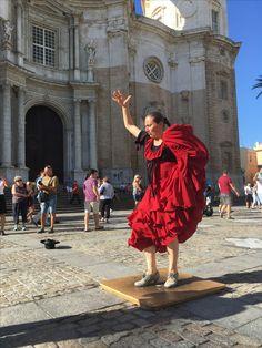 Flamenco na tle renesansowej katedy Parroquia de Santa Cruz Saints, Santa Cruz, Flamingo