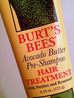 Burts Bees Avocado Butter Pre-Shampoo Hair Treatment Burts Bees Avocado But Avocado Hair, Avocado Butter, Pre Shampoo, Hair Shampoo, Vaseline, Glowing Skin Diet, Diy Beauty Makeup, Beauty Tips, Hair Essentials