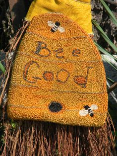 Punch Needle Pattern BEE GOOD from by notforgottenfarm on Etsy