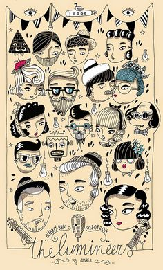 Amaia Arrazola Illustration: The Lumineers para el BBK live!