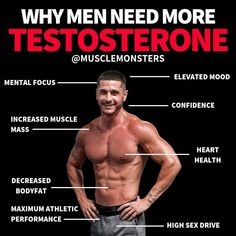 Increase testosterone naturally with the best testosterone supplement that increases HGH too. Ways To Increase Testosterone, Increase Testosterone Levels, Testosterone Booster, Testosterone Boosting Foods, Low Libido, Natural Testosterone, Increase Muscle Mass, Bodybuilding Diet, Brain Fog