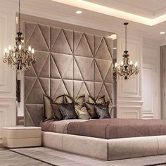 Luxurious bedrooms - 50 Luxury Bedroom Design Ideas that you Definitely want for your Dream Home – Luxurious bedrooms Luxury Bedroom Design, Master Bedroom Design, Home Bedroom, Bedroom Decor, Bedroom Designs, Bedroom Lighting, Bedroom Ideas, Luxury Master Bedroom, Bedroom Photos