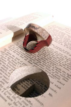 jeremy may makes jewellery out of old books
