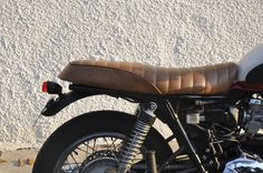 I insert GEL in my new seat.  Much better !!! Good ride with more confort... Triumph Bonneville Cafe Racer