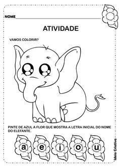 Ideia Criativa - Gi Barbosa Educação Infantil: Atividade Letra E Inicial