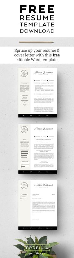 Resume \ Cover Letter Template v5 Resume cover letter template - free resume and cover letter template