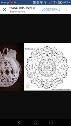 Witam:) To co wczoraj zobaczyłam na swojej tablicy na FB S Crochet Christmas Decorations, Crochet Decoration, Christmas Crochet Patterns, Crochet Ornaments, Holiday Crochet, Crochet Snowflakes, Beaded Ornaments, Christmas Crafts, Crochet Diagram
