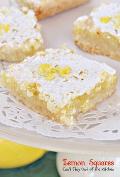 Lemon White Chocolate Gooey Bars - Can't Stay Out of the Kitchen
