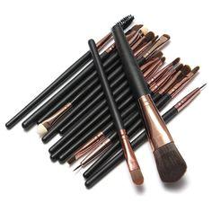 15pcs Beauty Eye Make Up Brush Set Eyeliner Eyebrow Lip Brush Eye Shadow Foundation Makeup Brushes set Tools cosmetics Kits