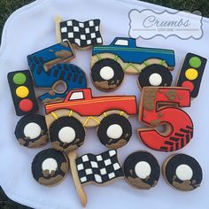 Monster Truck cookies by Crumbs                                                                                                                                                      Más