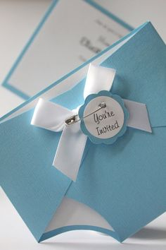 Baby Diaper Shower Invitation  Blue  Baby  Girl by CraftedbyLizC, $4.50