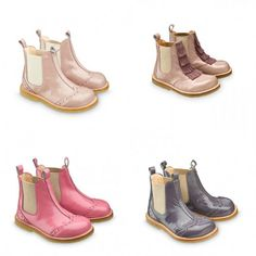 Angulus (by Paul+Paula). Love these short boots for my girls, especially the grey shiny ones.