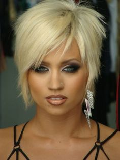 short blonde edgy | platinum blonde and choppy textures! | Hair~Short Sassy Edgy CUTS and ...