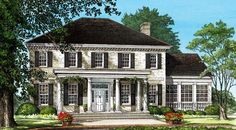 House Plan 86242 | Colonial Southern Traditional Plan with 3920 Sq. Ft., 4 Bedrooms, 4 Bathrooms, 2 Car Garage at family home plans