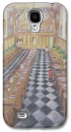 Refectory Galaxy S4 Cases - Royal Hospital Chelsea, 1996 Pastel On Paper Galaxy S4 Case by Sophia Elliot