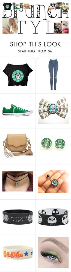 """Brunch With Friends"" by take-me-to-neverland-dear ❤ liked on Polyvore featuring Topshop, Converse, Rebecca Minkoff and brunch"