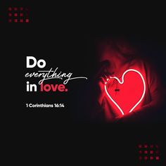 Verse of the Day 1 Corinthians Bible Scriptures, Bible Quotes, Worship Scripture, Gospel Bible, Worship Jesus, Jesus Bible, Scripture Verses, Youversion Bible, Do Everything In Love