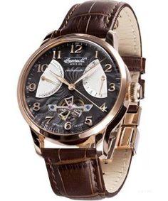 INGERSOLL Massa Automatic Brown Leather Strap IN6910RBK Ingersoll Watches, Brown Leather, Tan Leather, Brown Skin