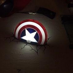 Amazon 3d light fx marvel captain america shield 3d deco led 3d light fx marvel captain america shield 3d deco led wall light aloadofball Images