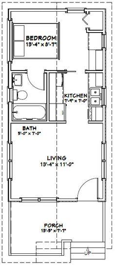 14x28 Tiny House -- #14X28H1B -- 391 sq ft - Excellent Floor Plans