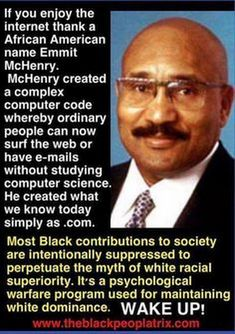 Creator of the Internet Emmit McHenry - Wikipedia conveniently left this information out of his page 🤔🧐 African American Names, African American Inventors, Afro, Black History Facts, Black History Month, Black Pride, African American History, Black Power, Black People