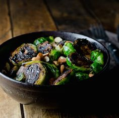 Pan Seared Balsamic Brussels Sprouts