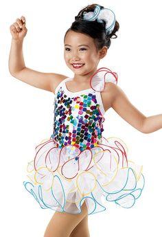Rainbow Sequin Curly Hem Dress -Weissman Costumes