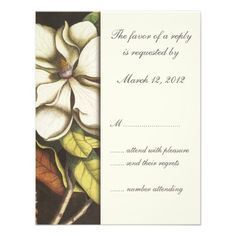Discount DealsMagnolia Blossom Floral Wedding Invitation RSVPin each seller & make purchase online for cheap. Choose the best price and best promotion as you thing Secure Checkout you can trust Buy best