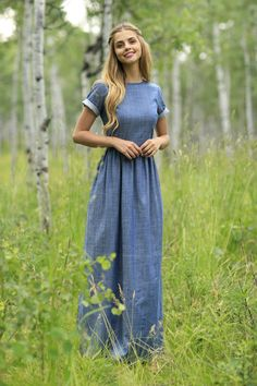 Eerbare kleding. Modest clothing / dressing. Gemma Maxi Dress from the Fall Collection by Shabby Apple