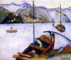 Título :Porto Maggiori Artista :Annita Catarina Malfatti - Anita Malfatti - Anita Malfati Ano :1925 Técnica :Óleo sobre Tela Dim. :38 x 46 cm