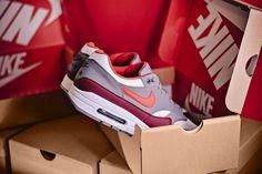Nike Air Max 1 Drops in University Red/Cool Grey - EUKicks.com Sneaker Magazine