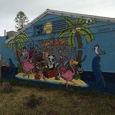 Cool fun piece on the side of Senor Grubbys in Cbad. #streetart #senorgrubbys #sdgraffiti #sebastienwalker by rynolando