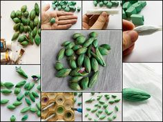 tutorial - Polymer clay beads textured with crepe paper by Anna Jour, via Flickr - the short version. #Polymer #Clay #Tutorials
