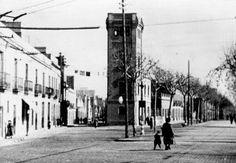 """Rambla de Fabra i Puig, a l'alçada del carrer Concepció Arenal, als anys 60 - la torre que es veu és l'actual """"discoteca"""" la torreta - Fotolog."""