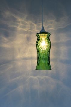 Green Diamonds  Hanging Pendant Lighting Fixture  by BootsNGus, $70.00