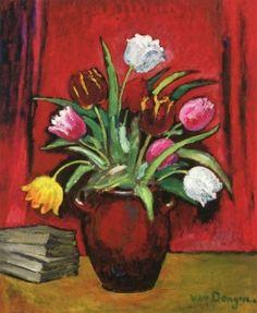 Vase of Tulips - Kees van Dongen - The Athenaeum