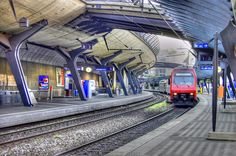 Santiago Calatrava - Stadelhoten Railway Station Zurich Switzerland 1983-1990