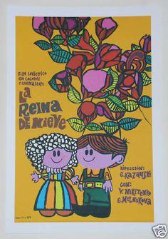 "i really love this one.    Cuban movie Poster 4 film""The Queen of SNOW""Children.La Reina de la Nieve. art | eBay"